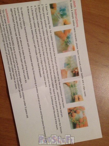 Набор резинок Rainbow Loom - инструкция, как плести, уроки