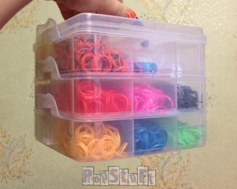 Набор резинок Rainbow Loom - подарочная коробка