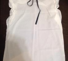 Блузка с коротким рукавом и бантом