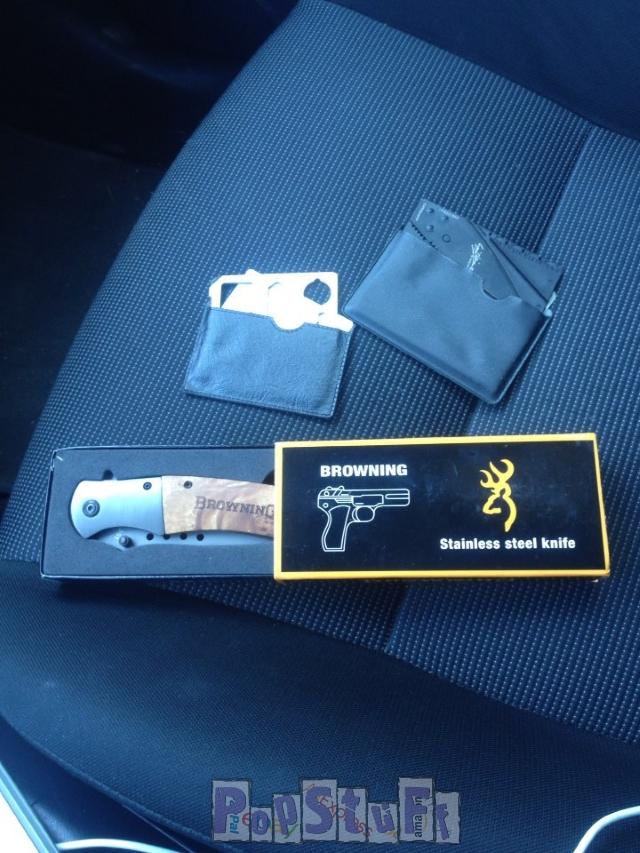 Нож с aliexpress, а в подарок нож визитка