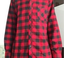 Мужская теплая фланелевая рубашка в клетку